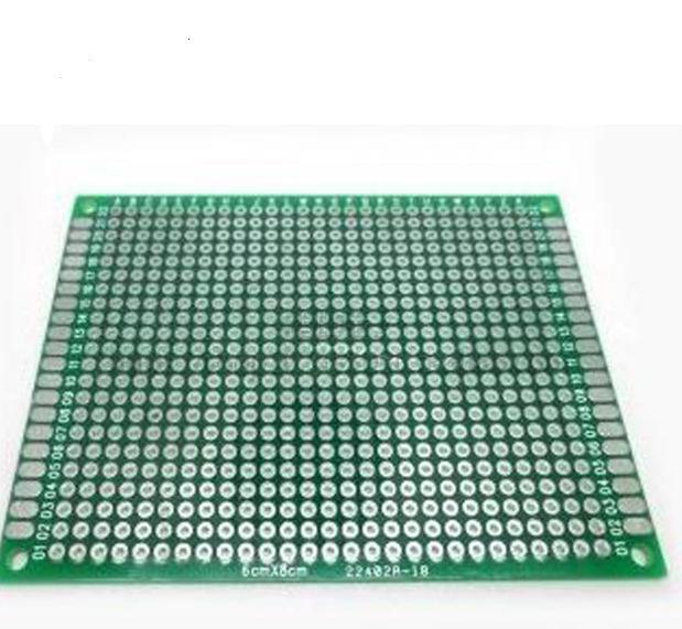 双面喷锡万能板 6cmx8cm 实验板 面包板 洞洞板 2.54MM间距