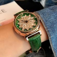 新款U&G英伦学院风时来运转女表花瓣镶钻女士手表腕表皮带时装表