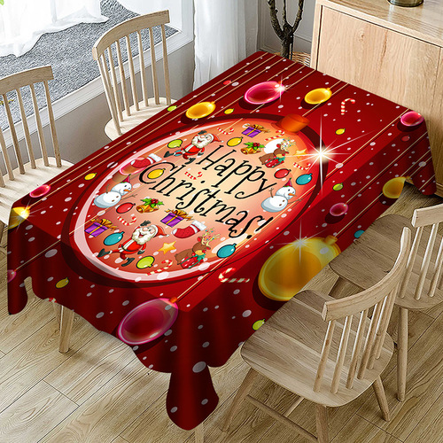 Tablecloth table cloth table cover Waterproof polyester printing table with Christmas series decorative table D digital printing waterproof table