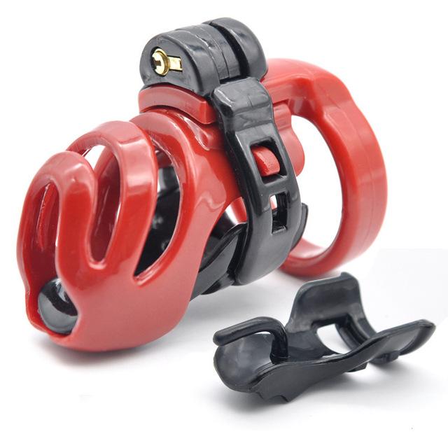 新款3D设计男用长款贞洁器贞操笼天然树脂CB6000贞操锁成人用品