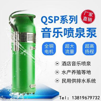 QSP音乐喷泉循环水泵 小区景观喷泉潜水泵 铸铁QSP喷泉专用潜水泵