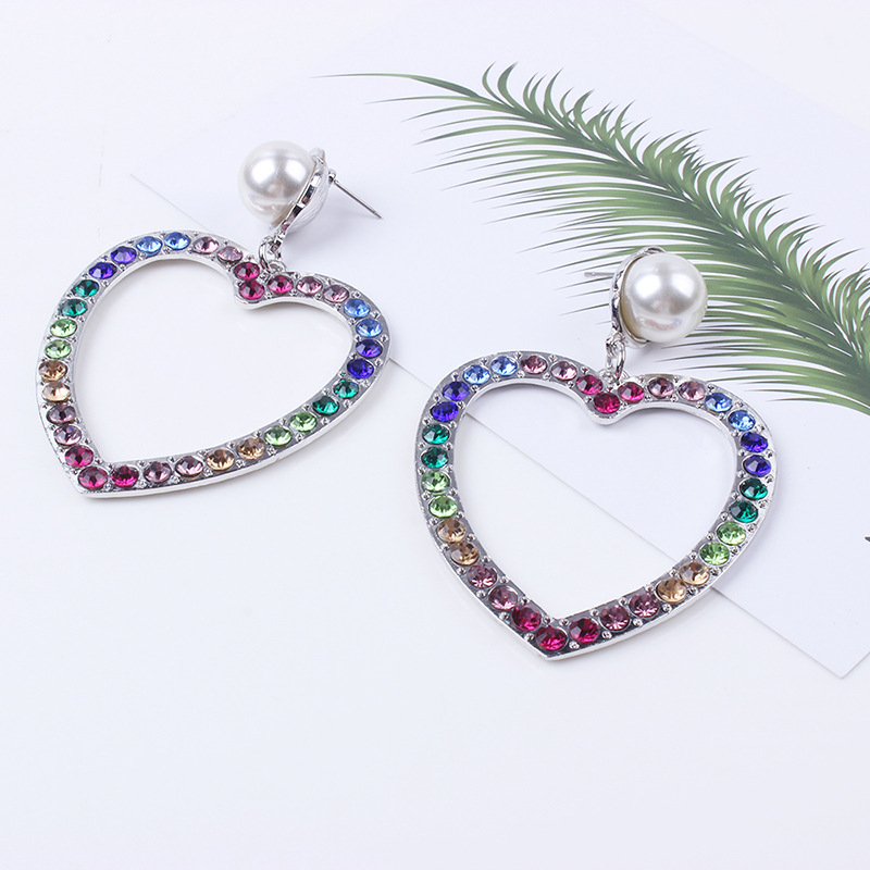 Alloy Fashion Sweetheart earring  (Alloy) NHNMD4649-Alloy