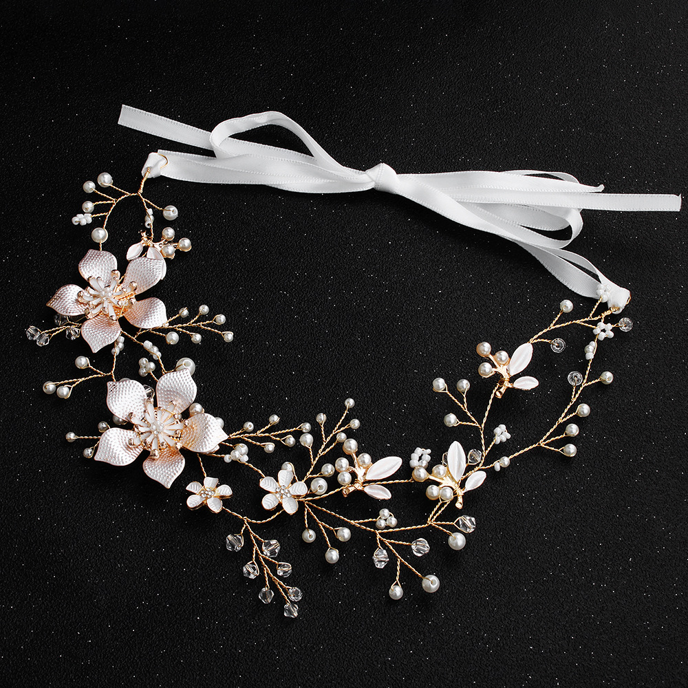 Alloy Simple Flowers Hair accessories  (Alloy) NHHS0621-Alloy