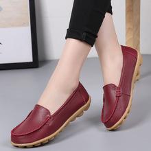Giày da mùa xuân và hè 2019 cho mẹ đặt giày đế xuồng đế xuồng đế thấp giày đế thấp giúp giày y tá Giày mẹ