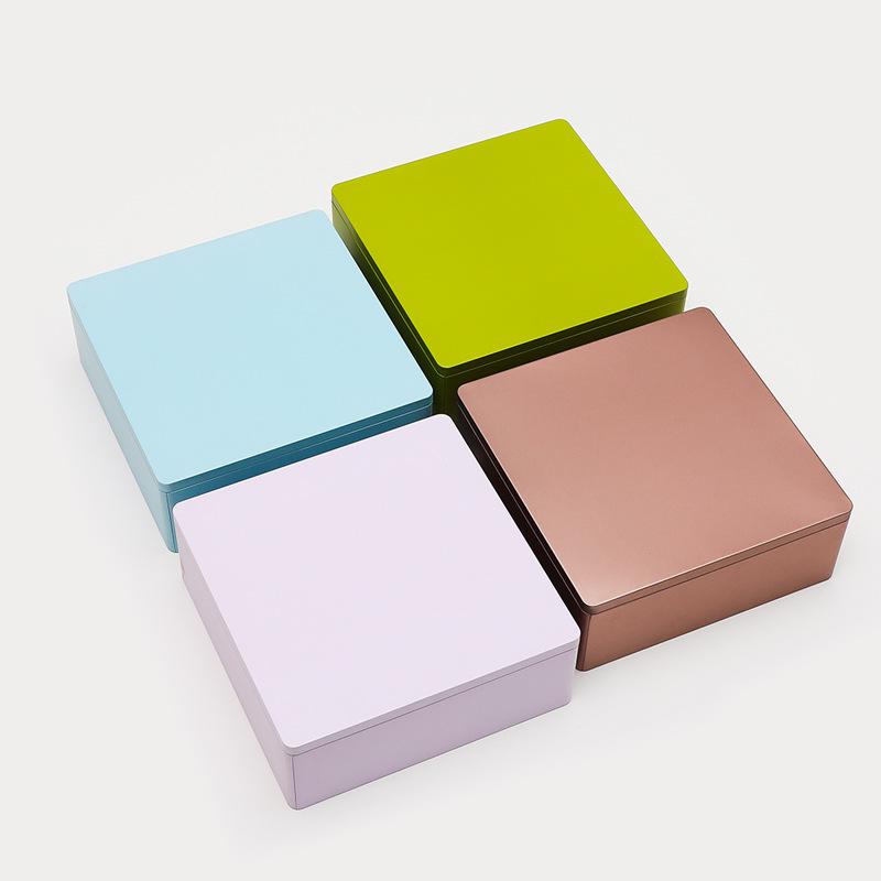 厂家批发高档马口铁礼品盒精美茶叶金属创意包装铁盒月饼盒定制