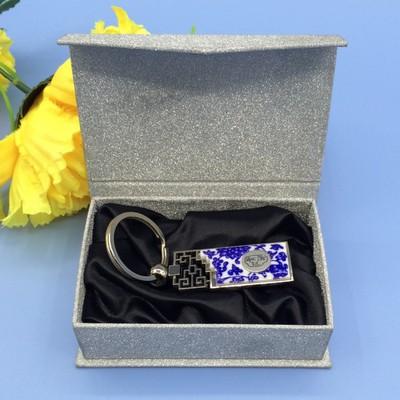 厂家供应礼品包装盒 银色闪光纸钥匙扣盒子 各种纸盒子手工制作