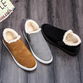 Old Beijing Cloth Shoes Male Winter Shoes plus Velvet Warm a Pedal Casual Shoes Men's Shoes New Style Men's Shoes