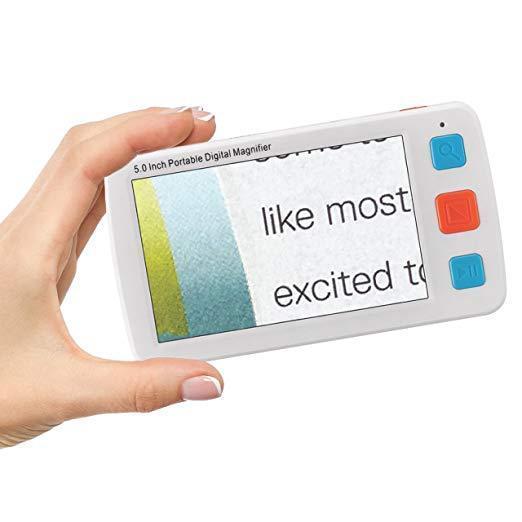 新款五寸便携式电子助视器手持高清低视力阅读器放大镜 4~32倍