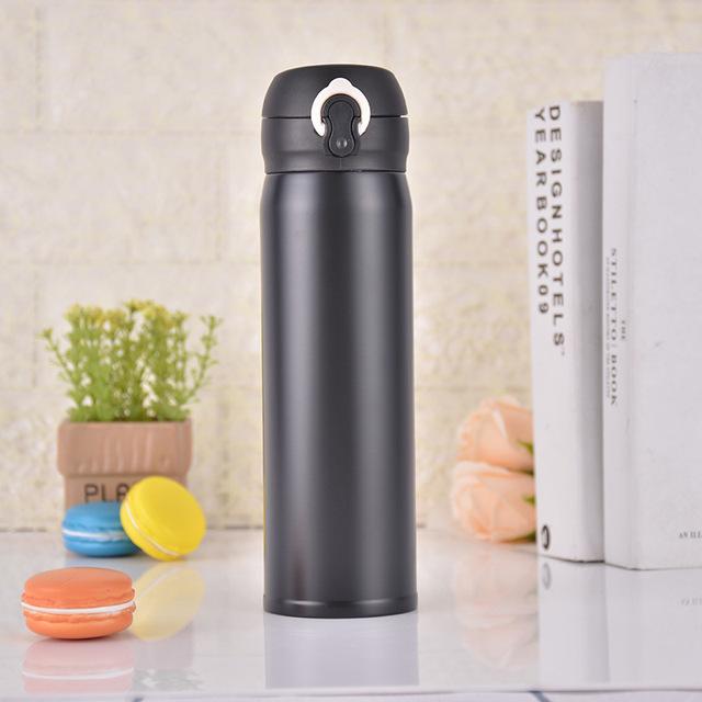不锈钢304弹跳杯创意礼品保温杯广告定制LOGO水杯便捷式户外杯子