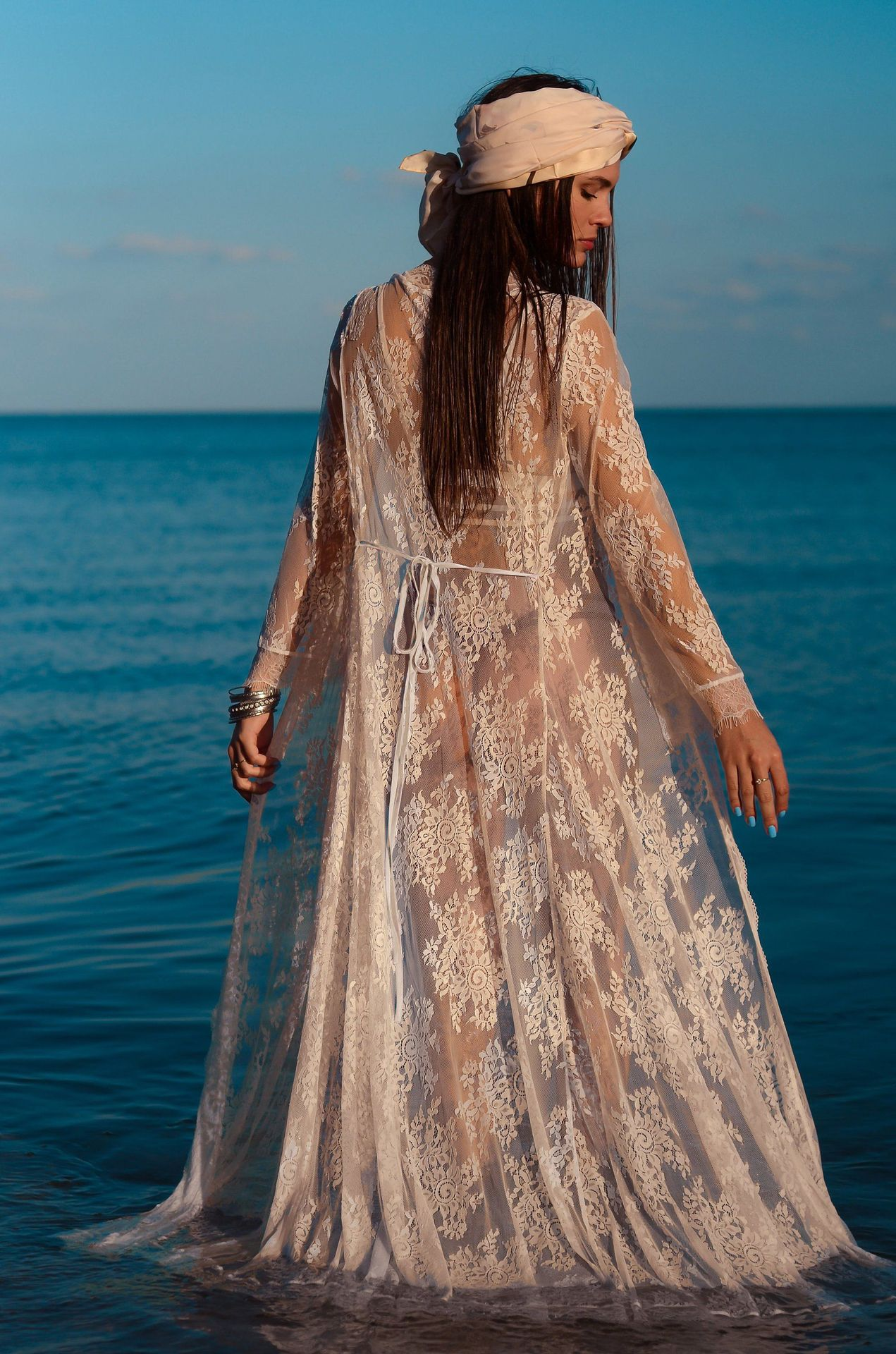 fashion  new wave lace lace loose sunscreen beach cardigan long skirt holiday wear swimsuit outside smock nihaojewelry wholesale NHXW217891