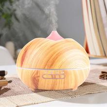 大容量家用智能防干烧空气加湿器创意礼品木纹香薰加湿机跨境专供