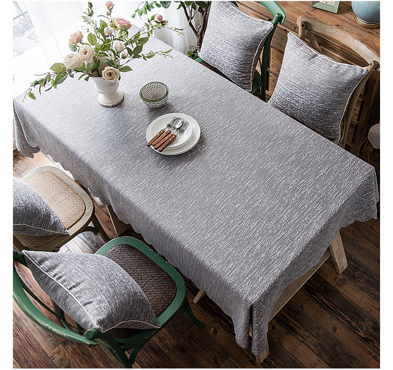 Fashion waterproof cotton tablecloth kitchen living room multi types NHSP134601