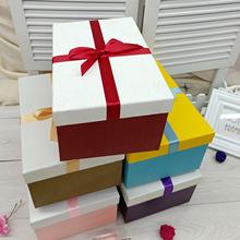 新款正方形禮品盒文藝小清新生日禮物包裝盒大號喜糖紙盒定做批發