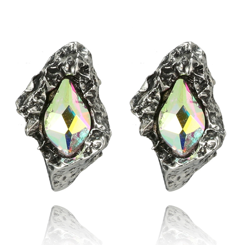 Fashion Alloy plating earring Geometric (green)NHGY1677-green