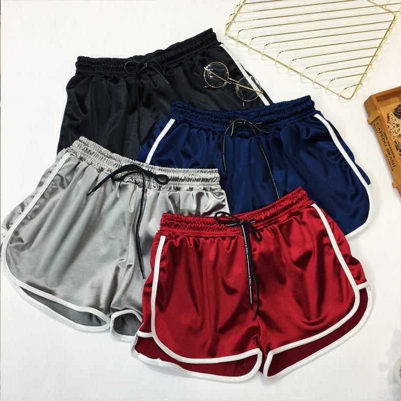 2021夏季新款实拍韩版宽松大码胖mm显瘦阔腿跑步健身运动短裤女