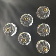 平底半孔螺纹透明亚克力钻石散珠子 孔内螺帽/螺杆钻石珠