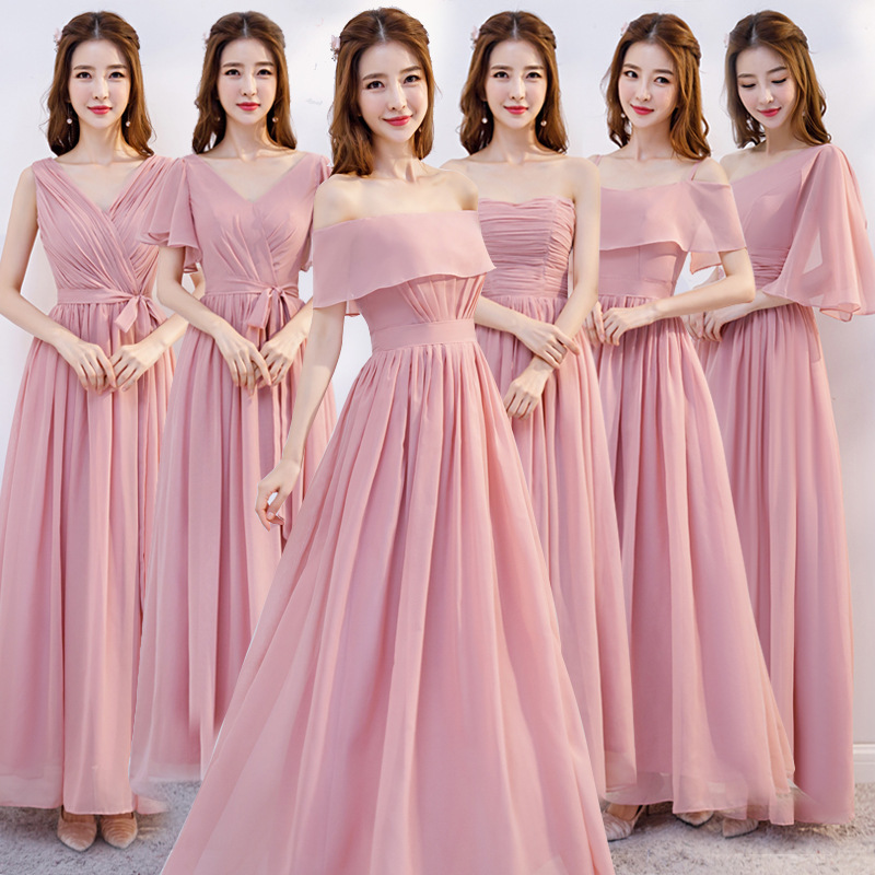 伴娘服长款夏季新娘婚礼伴娘团姐妹裙伴娘礼服年会礼服宴会晚礼服