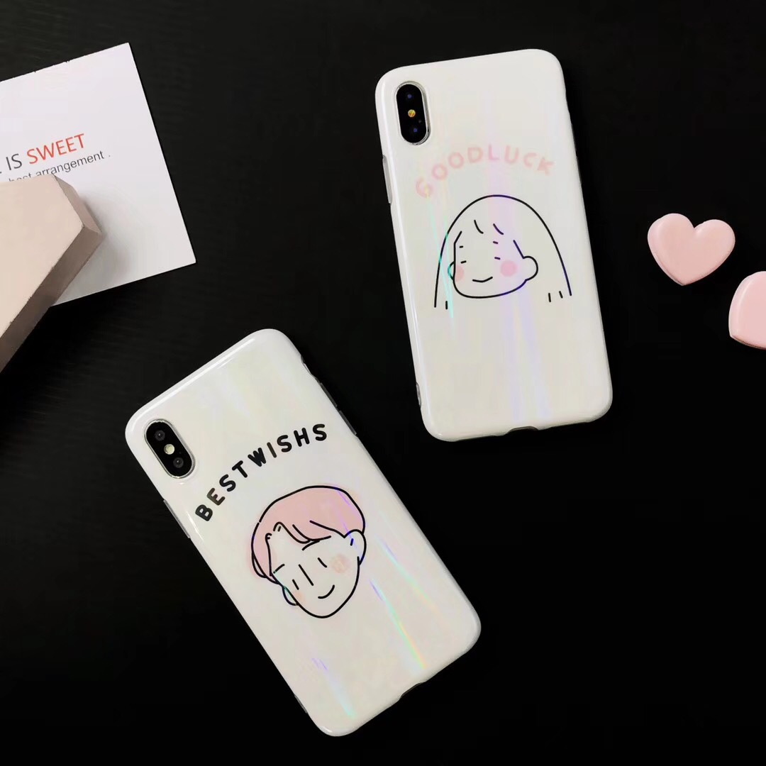 Ins personality iphone7 mobile phone shell head Japanese and Korean apple 6splus couple men and women x tide goods 8plus vibrating