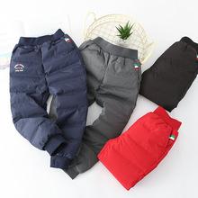 Quần trẻ em mùa đông Hàn Quốc cho trẻ em lớn xuống quần lót trắng xuống quần giản dị quần trẻ em dày dày ấm áp xuống quần Xuống quần