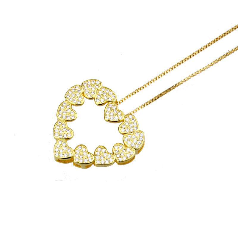 Copper Fashion Sweetheart necklace  (Alloy plating)  Fine Jewelry NHBP0373-Alloy-plating