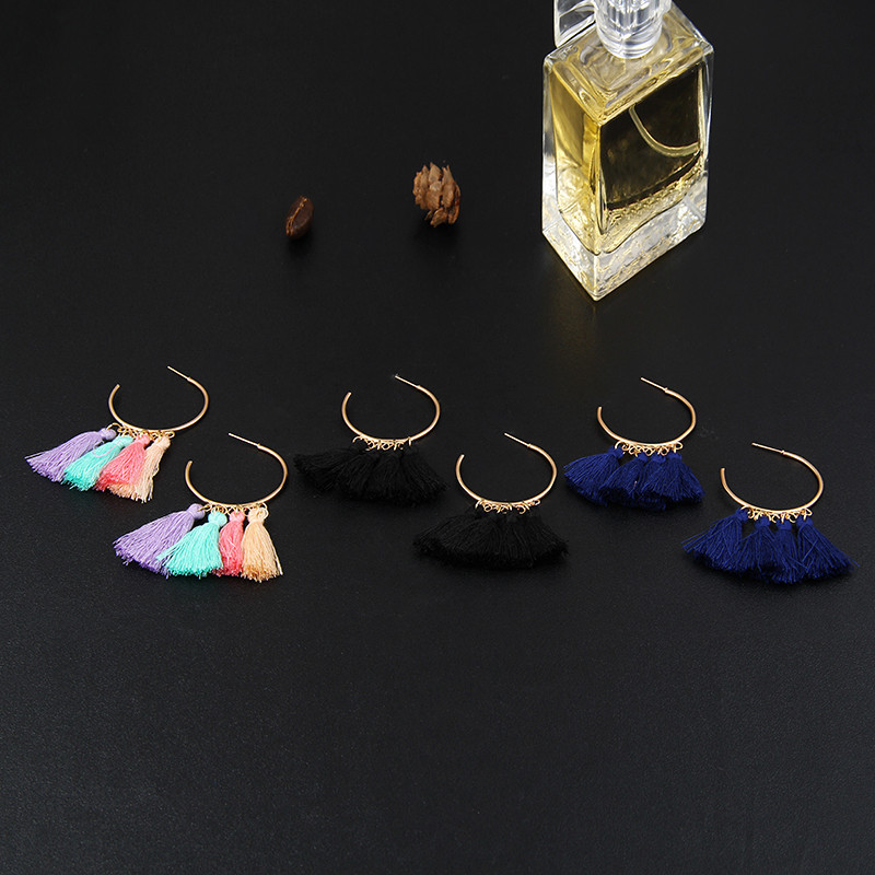 New wool tassel earrings NHPF145252