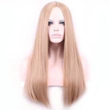 亚马逊 欧美流行动漫假发长直发假发彩色多色直发渐变现货批发