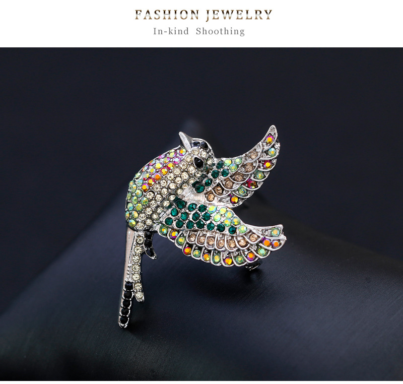 Alloy Vintage Animal brooch(AG214-A) NHDR2498-AG214-A