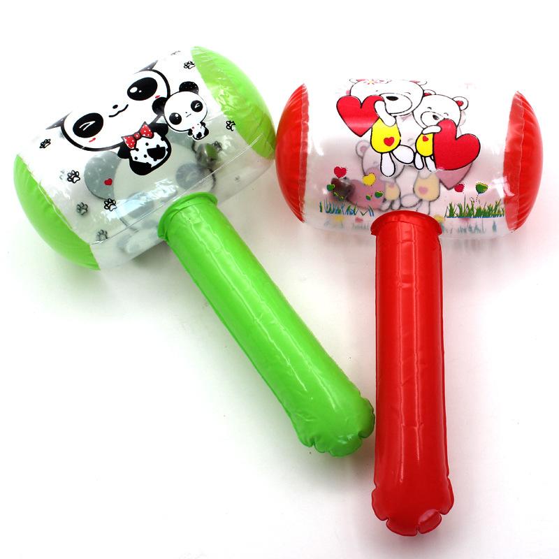 儿童卡通热销玩具充气小锤子 捏捏叫礼物带铃铛充气榔头厂家批发