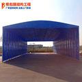 安装大型移动折叠雨蓬 南通手动推拉雨棚公司户外活动仓库推拉篷