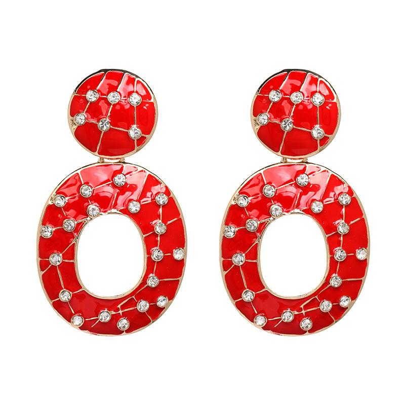 Alloy Fashion Geometric earring  (red) NHJJ5077-red