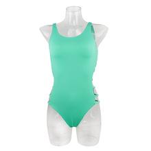 2018新款薄荷绿色 小清新风连体遮肚显瘦泳装 欧美性感比基尼泳衣