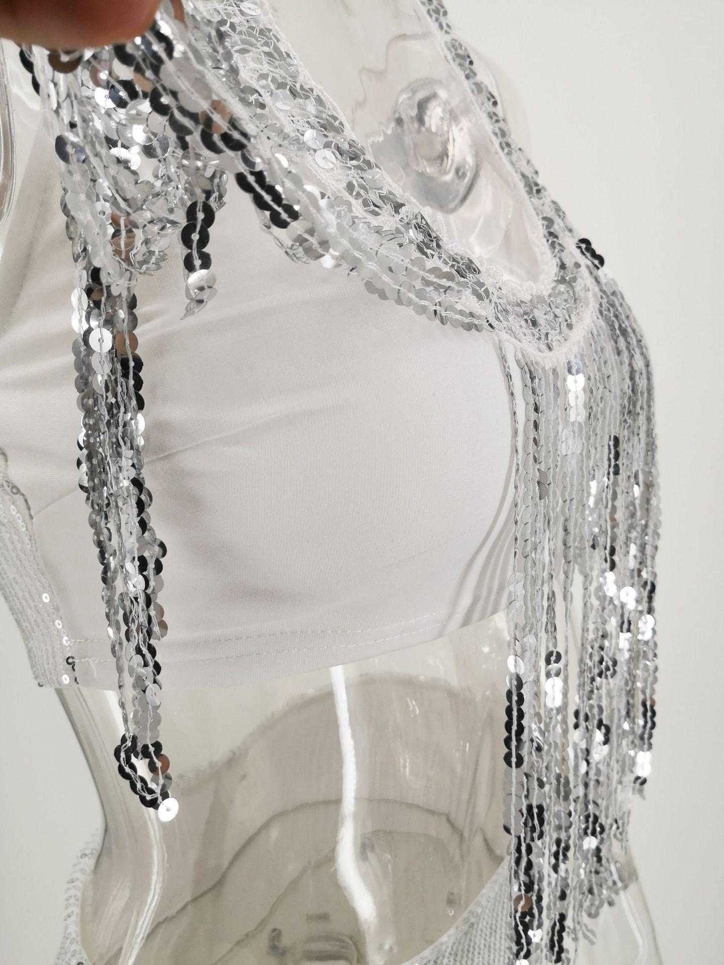 Women`s Sequins Off Shoulder A-Line Skater Dress