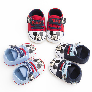 Baby shoes 0-1 year old baby shoes for men and women, spring and autumn soft-soled casual canvas toddler shoes, one drop shipping