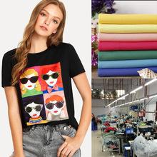 淘工廠女裝針織潮牌數碼印花T恤打底衫來圖來樣貼牌生產加工定制
