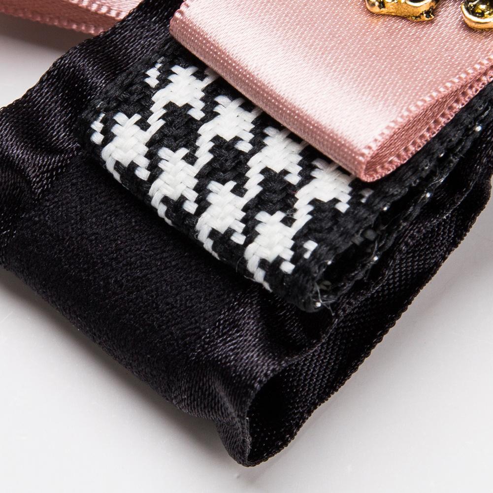 Fashion Alloy Diamond brooch Bows (black)NHJE1124-black
