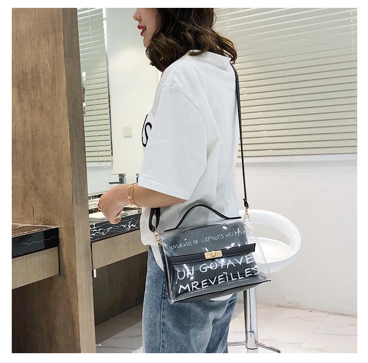 New summer PVC transparent Messenger bag XC190427119555