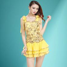 夏季新款连衣裙A亮片绣花低胸修身显瘦蓬蓬裙夜场小姐公主蛋糕裙