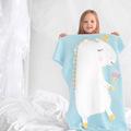 欧美新款独角兽毯子立体耳朵毛毯儿童针织盖毯沙滩垫婴儿宝宝抱毯