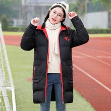 少女棉衣2018冬季新款韓版寬松中長款初中生冬裝高中學生棉服外套