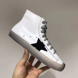 Autumn and winter song Zhongji same leather stars to make old high-help small dirty shoes leisure sports board shoes