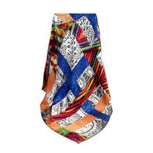 140*140cm14姆米真丝素绉缎方巾欧美风格定制高档礼品围巾