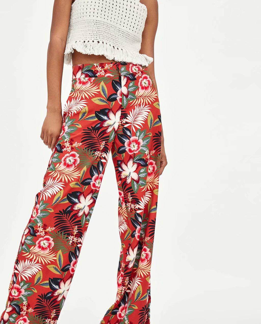 Chiffon Fashionpants(Picture color -S) NHAM4502-Picture-color-S