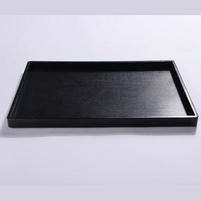 2018新款酒店用品餐厅简约防滑托盘 长方塑料快餐托盘健康餐盘