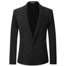 一件代发外贸男装新款2019秋季韩版潮流一粒扣短款小西装外套