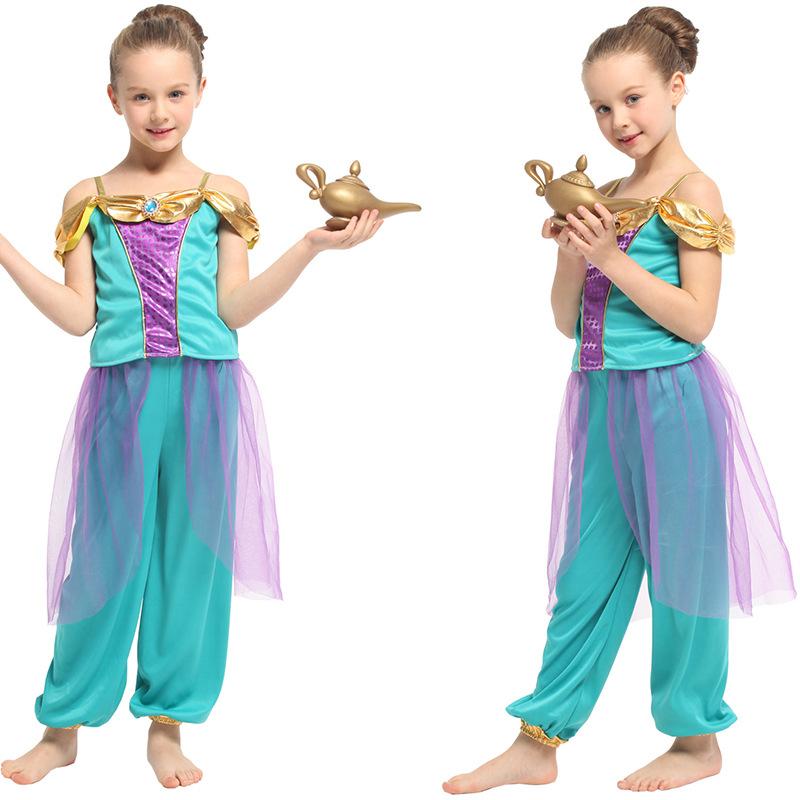 万圣节cosplay服装 儿童表演服 阿拉伯公主裙 拉丁神灯G-0323