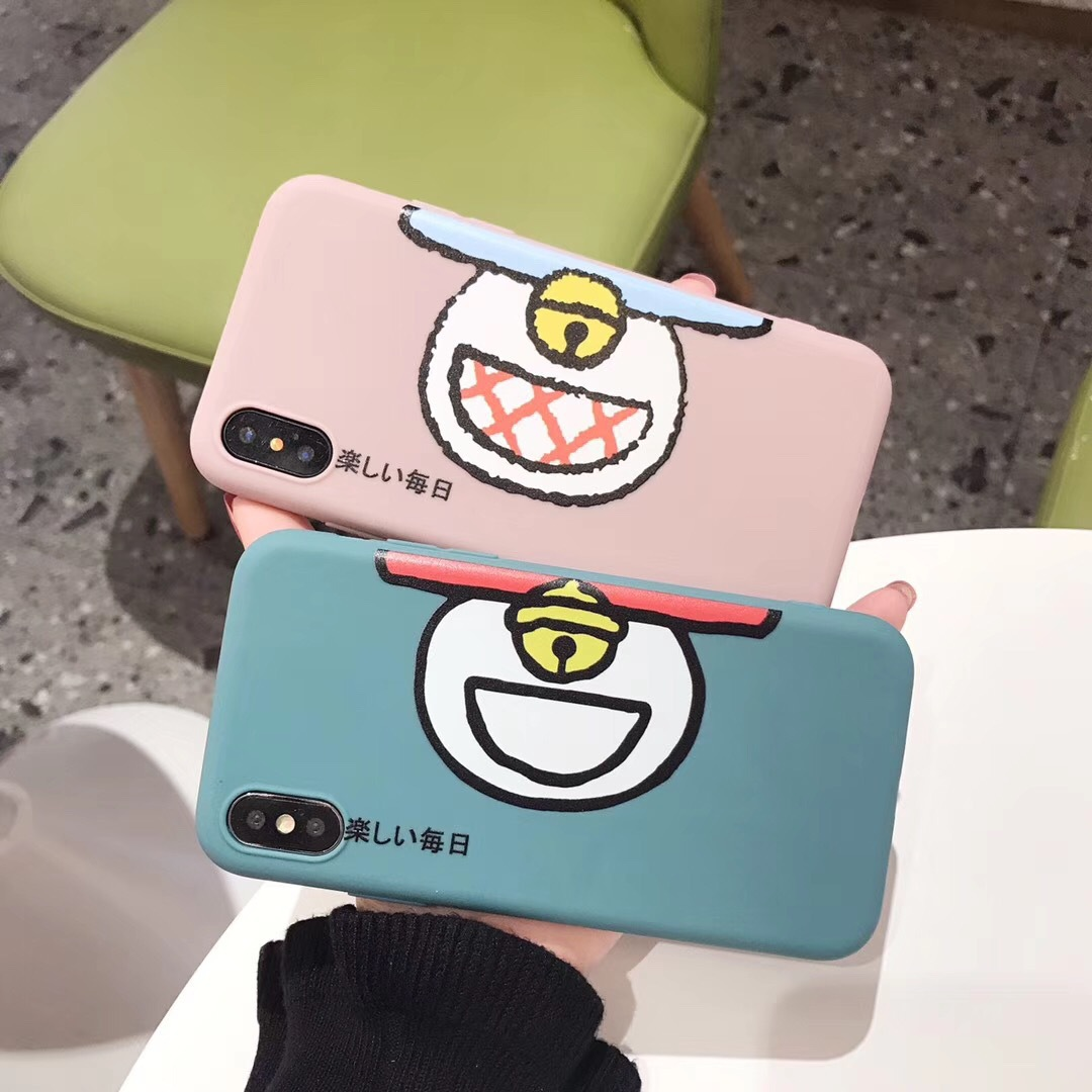 Today is happy for iPhoneX mobile phone shell Apple XS Max smiley face 7 creative text 6s anti-fall couple sets