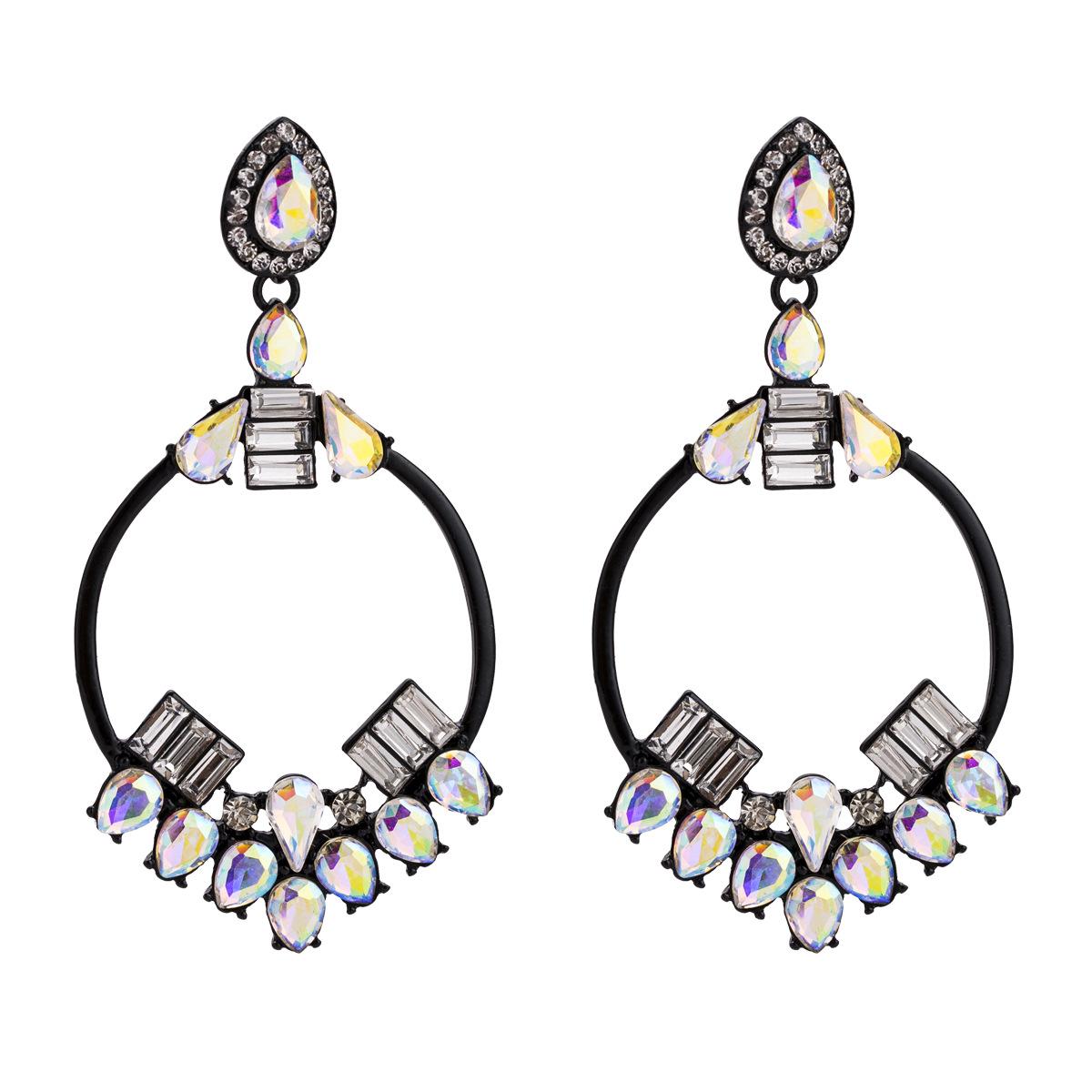 Alloy Fashion Geometric earring(black) NHJE1627-black