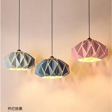 马卡龙单头吧台小吊灯 单个长线创意个性店铺奶茶店大号粉色灯