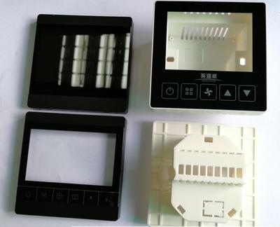 供应全触摸大液晶窗口温控器外壳 配电池盒