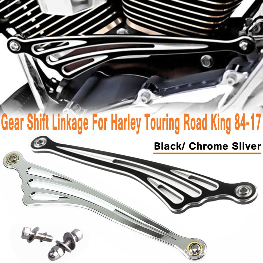 Black Billet Gear Shifter Shift Linkage For Harley Touring Softail